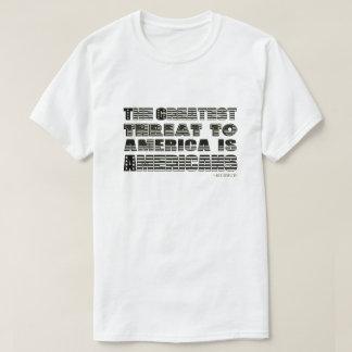 Camiseta os americanos enlatam o branco
