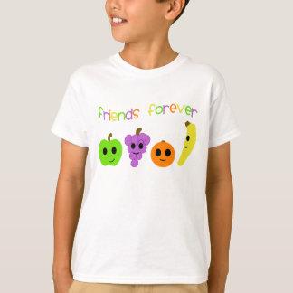 Camiseta Os amigos da fruta caçoam para sempre o t-shirt