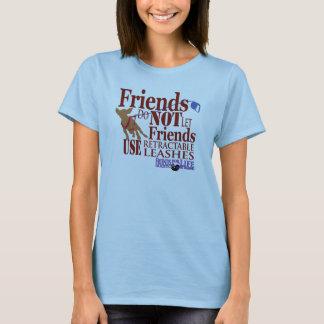 Camiseta Os amigos não deixam amigos feriram cães