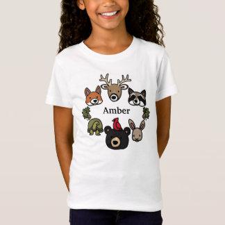 Camiseta Os animais bonitos e amigáveis da floresta,