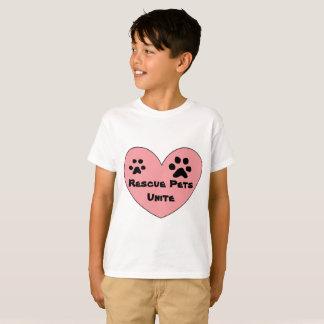 Camiseta Os animais de estimação do salvamento unem a