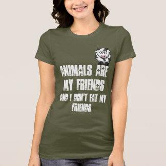 Camiseta Os animais são meus amigos