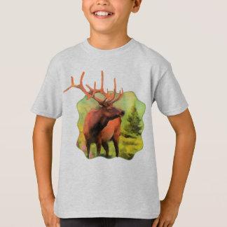 Camiseta Os animais selvagens dos alces de Bull caçoam o