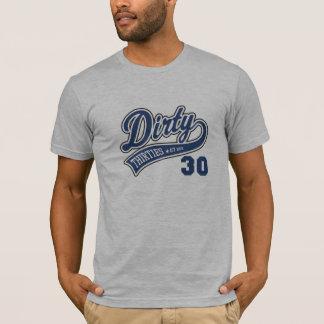 Camiseta Os anos 30 sujos azuis