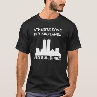 Camiseta Os ateus não voam aviões em construções
