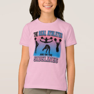 Camiseta Os atletas reais estão no cheerleader das