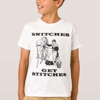 Camiseta Os bufos obtêm pontos que Sewing a chalaça da