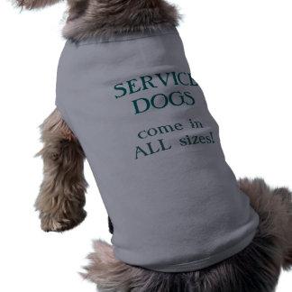 Camiseta Os cães do serviço vêm em todos os tamanhos