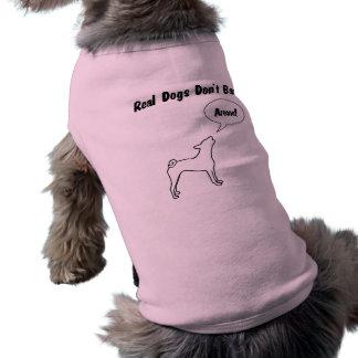 Camiseta Os cães reais não descascam! Camisa do músculo do