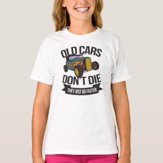 Camiseta Os carros velhos não morrem eles apenas vão mais