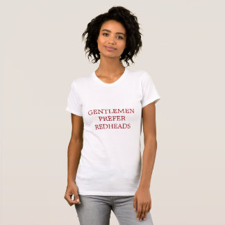 Camiseta Os cavalheiros preferem o T do jérsei dos Redheads