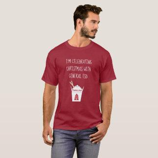 Camiseta Os chineses judaicos engraçados do Natal removem