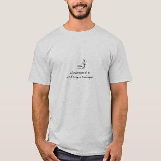 Camiseta os clarinetists fazem-no com técnica da língua