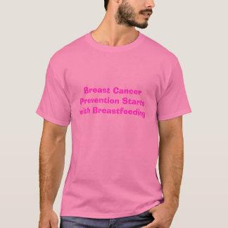 Camiseta Os começos da prevenção de cancro da mama com