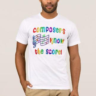 Camiseta Os compositores sabem a contagem