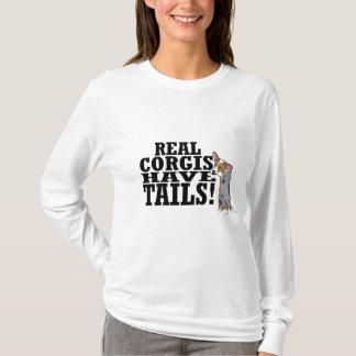 Camiseta Os Corgis reais têm senhoras das caudas