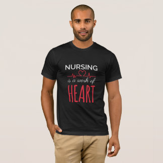 Camiseta Os cuidados são um trabalho do t-shirt do coração
