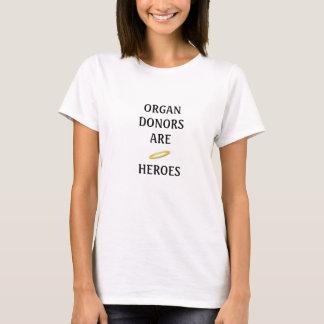 Camiseta Os dadores de órgãos são heróis