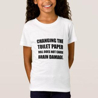 Camiseta Os danos cerebrais em mudança do rolo do papel