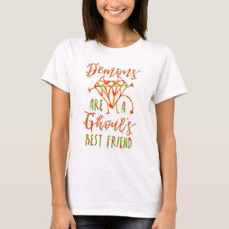Camiseta Os demónios engraçados do Dia das Bruxas são um Lt