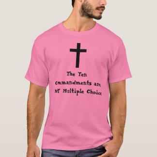 Camiseta Os dez mandamentos não são múltiplos…