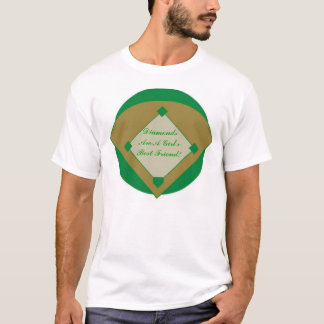 Camiseta Os diamantes são um melhor amigo das meninas