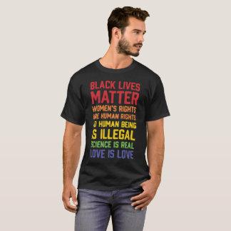 Camiseta Os direitos das matéria-Mulheres das vidas do