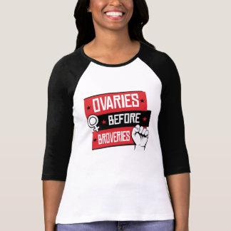 Camiseta Os direitos das mulheres - ovário antes de