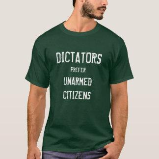Camiseta Os ditadores preferem cidadãos desarmado