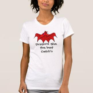 Camiseta Os dragões de Galês dão os melhores cwtchs