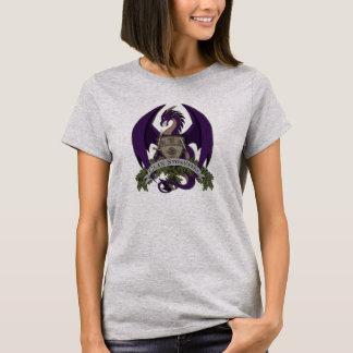 Camiseta Os dragões de Stonefire Crest (roxo), o t-shirt