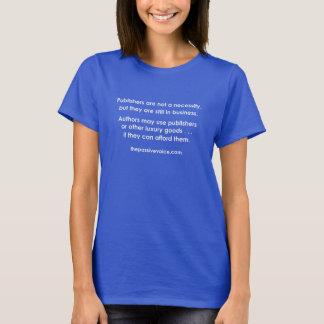 Camiseta Os editores não são uma necessidade - letras