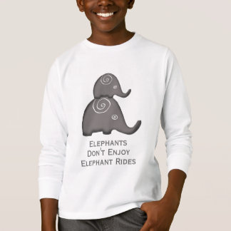 Camiseta Os elefantes espirais do slogan não apreciam