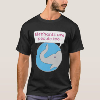 Camiseta Os elefantes são pessoas demasiado