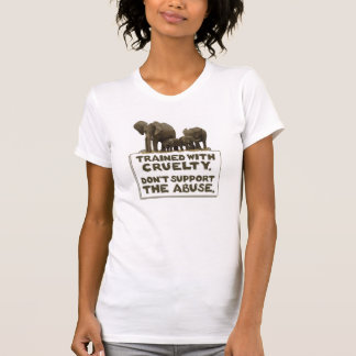 Camiseta Os elefantes são treinados com crueldade