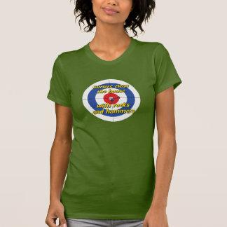 """Camiseta Os """"encrespadores limpam t-shirt da casa"""" - (o"""