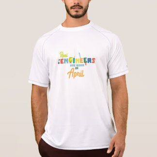 Camiseta Os engenheiros são em abril Zjz85 nascidos