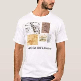 Camiseta Os esboços de Leonardo da Vinci