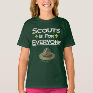 Camiseta Os escuteiros são para todos igualdade de género