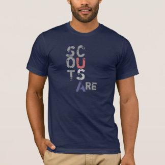 Camiseta Os escuteiros são… Parte traseira etc. Etc.