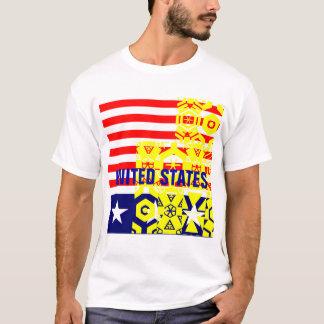 """Camiseta Os """"Estados Unidos """""""