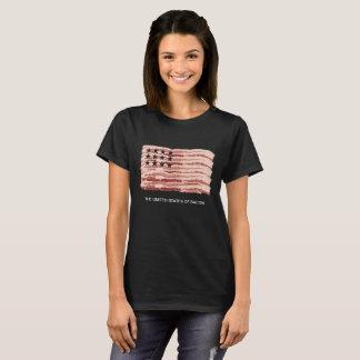 Camiseta Os Estados Unidos do bacon (para mulheres)