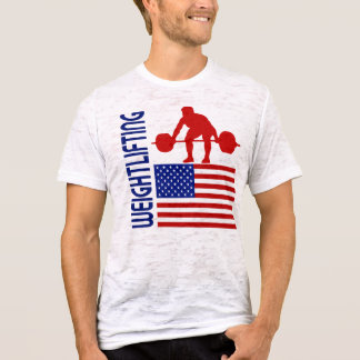 Camiseta Os Estados Unidos do halterofilismo