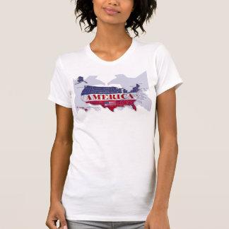 Camiseta Os EUA nomearam o t-shirt da águia americana de