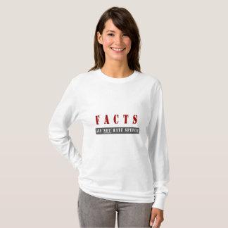 Camiseta Os fatos não são T do discurso de ódio