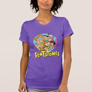 Camiseta Os Flintstones e o gráfico da família dos Rubbles