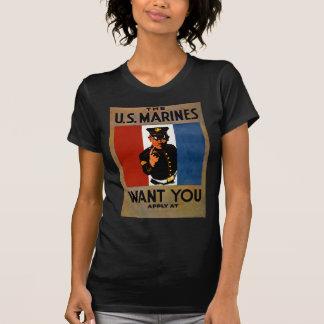 Camiseta Os fuzileiros navais querem-no