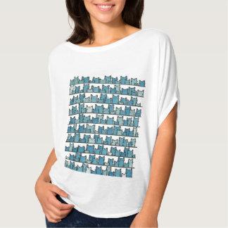 Camiseta Os gatinhos não me fazem o t-shirt azul