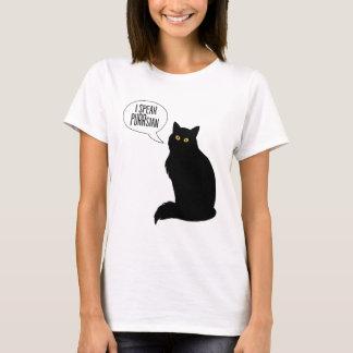 Camiseta Os gatos falam o t-shirt das mulheres básicas de