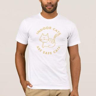 Camiseta Os gatos internos são gatos seguros